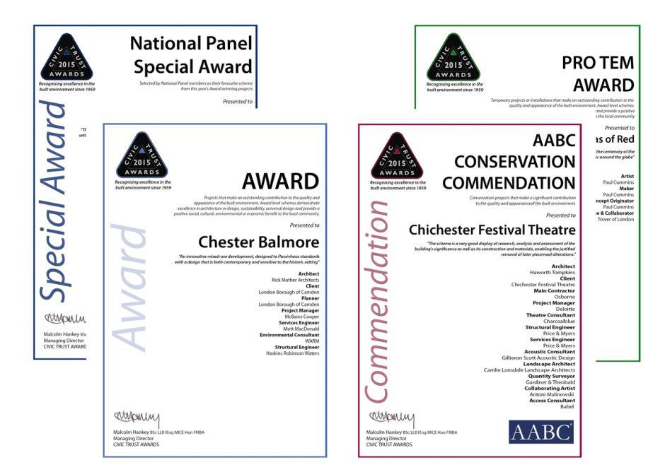 PDF - Customised Winners Certificate | Civic Trust Awards